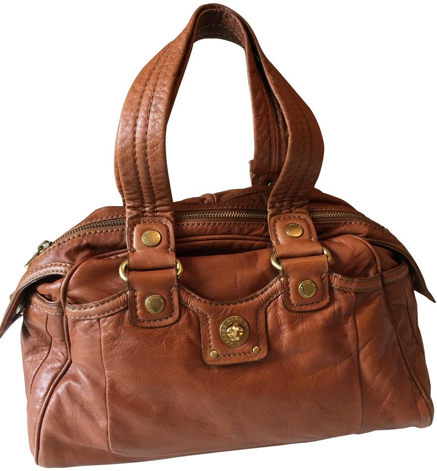 a2bd179765f4 Marc by Marc Jacobs Leather Gold Hardware Soft Casual Satchel in Brown  Image 0 ...