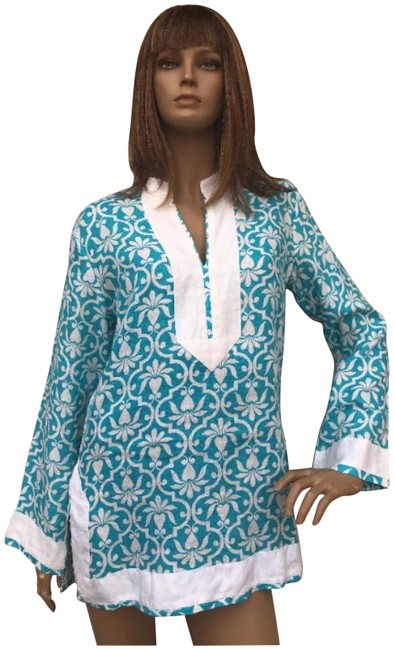 Item - Turquoise and White Tunic Size 4 (S)