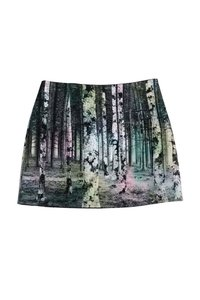 Tibi Forest Print Multicolor Fleece Skirt