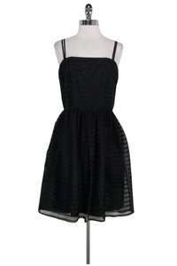 Shoshanna short dress Black Striped Flared on Tradesy