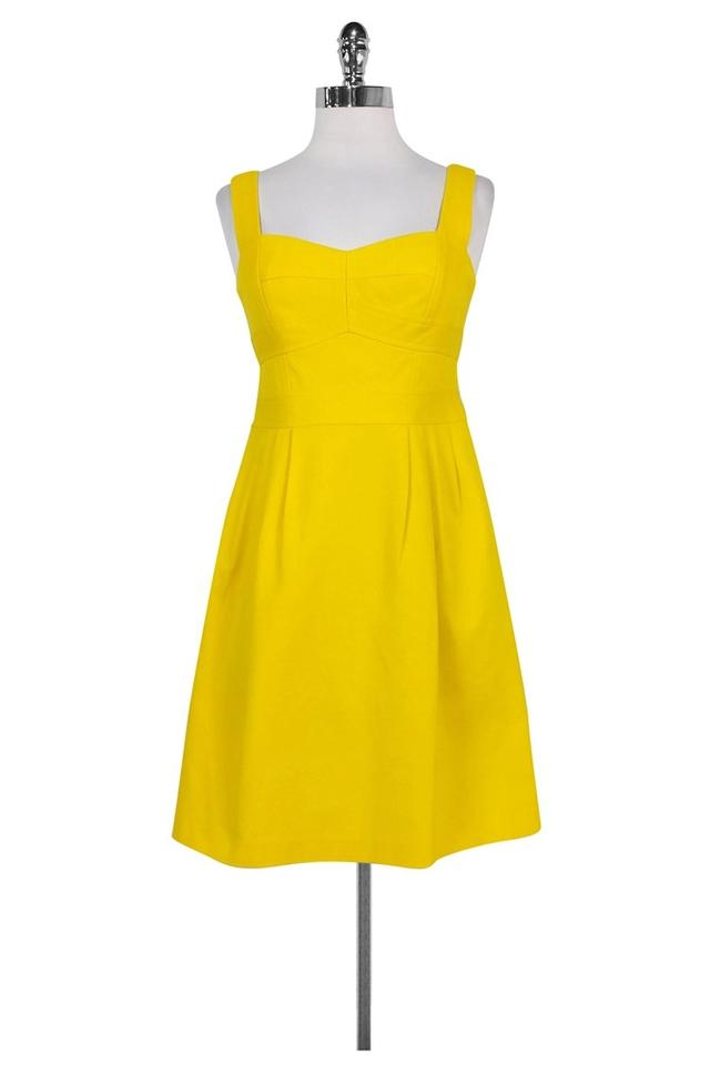 Nanette Lepore Short Dress Yellow Sweetheart Fit And Flare On Tradesy