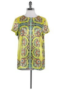 Nanette Lepore Patterned T Shirt Yellow