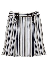 Nanette Lepore Brown Navy Lace Up Skirt