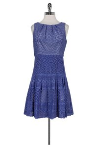 Shoshanna short dress Purple Lace Overlay on Tradesy