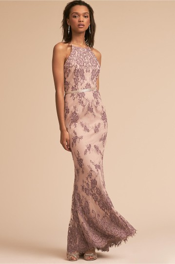BHLDN Nude/Lavender Nylon/Polyester/Lace Chrissy Style #44634087 Formal Bridesmaid/Mob Dress Size 6 (S) Image 2