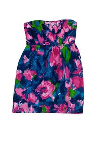 Shoshanna short dress Multicolor Floral Strapless on Tradesy