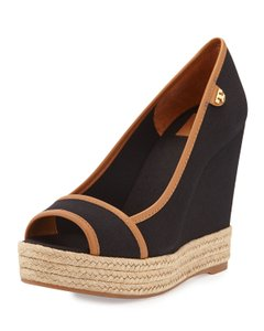 Tory Burch Black-beige Wedges