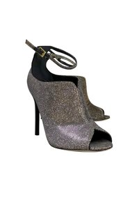 Brian Atwood Gold Iridescent Peep silver Pumps