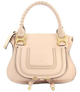 Chloé Leather Shoulder Flap Satchel in Blush