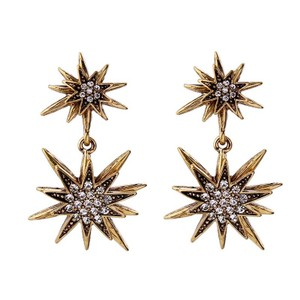 Rebecca Minkoff Gold & Pave Crystal Star Earrings