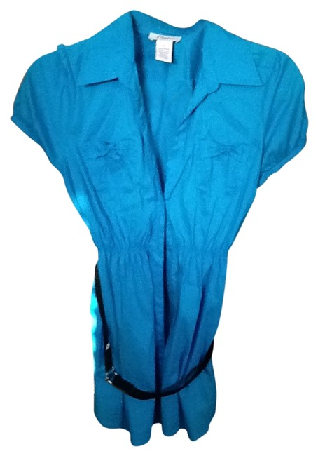 Candie's Button Down Shirt teal