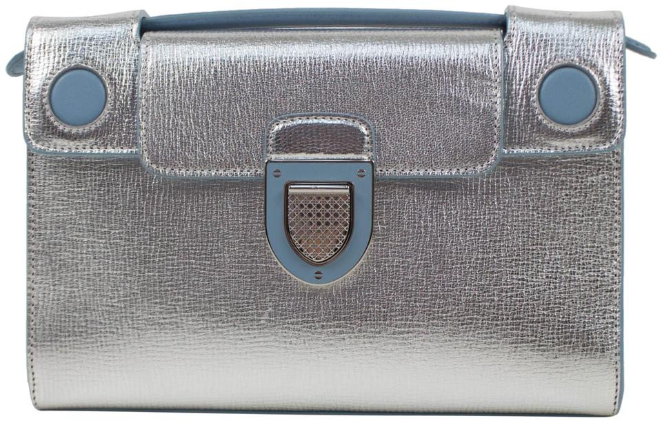 1ba13700edfc Dior Diorever with Attachable Strap Silver Leather Shoulder Bag ...