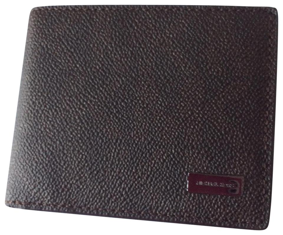 993f3df3d66c3 Michael Kors Brown Jet Set Men s Slim Billfold Wallet - Tradesy