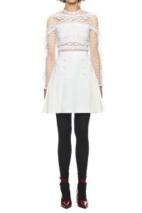 self-portrait Bellis Lace Trim Dress