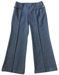 Anthropologie Office Professional Trousers Comfortable Wide Leg Pants grey