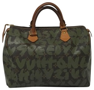 Louis Vuitton Stephen Sprouse Limited Edition Speedy Graffiti Satchel in Brown