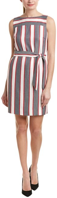 Item - Red/White/Grey Stripe Shift Night Out Dress Size 6 (S)
