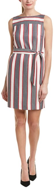 Item - Red/White/Grey Stripe Shift Night Out Dress Size 8 (M)