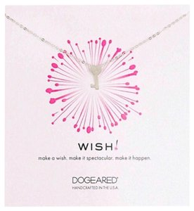 Dogeared DOGEARED STERLING SILVER NECKLACE Wish Key To My Heart Pendant
