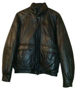 Eddie Bauer Leather Winter Men's black Leather Jacket