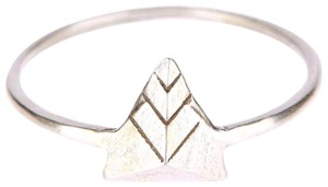 Dogeared DOGEARED STERLING SILVER PYRAMID RING