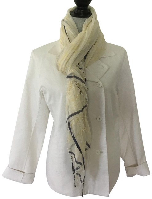 Item - Yellow White and Blue Summer Scarf/Wrap