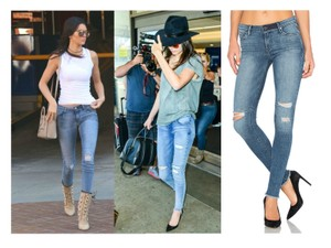 RtA Icon Distressed Icon Kendall Jenner High-rise Denim Skinny Jeans-Distressed