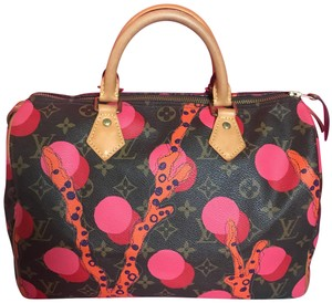 Louis Vuitton Neverfull Ebene Azur Damier Alma Satchel in Coral Red Summer Collection Monogram