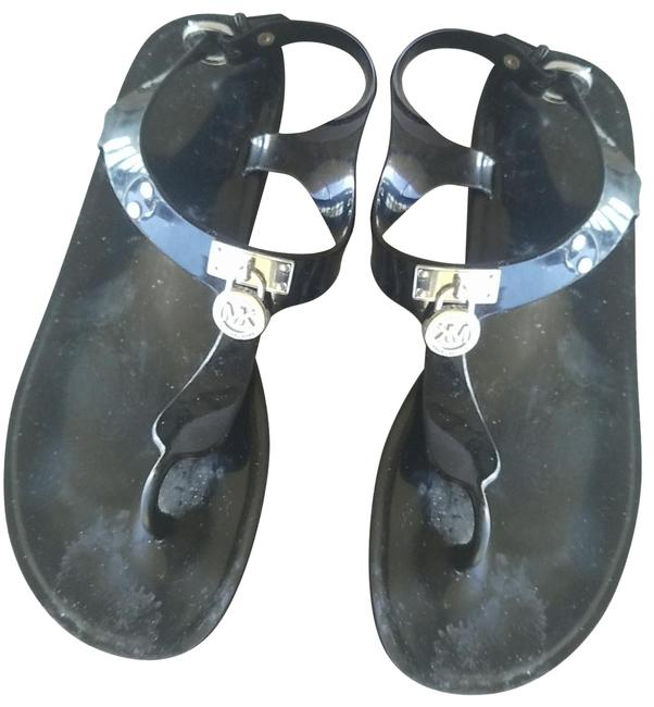 Item - Black Jelly Flip Flops. In Mint Condition As Shown. Flats Size US 6 Regular (M, B)