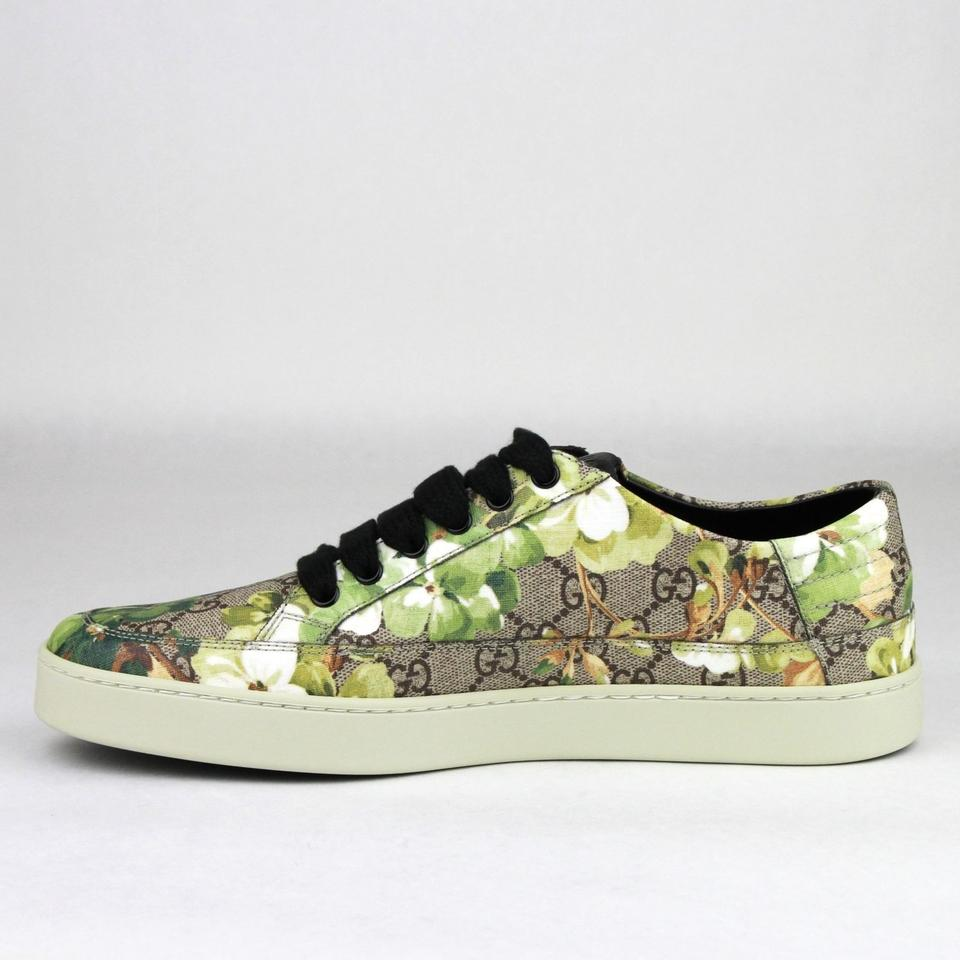 ca7f6a372c4 Gucci Green Men s Bloom Print Flower Sneaker 8.5g Us 9.5 407343 8960 ...