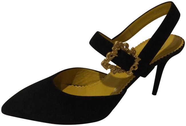 Item - Black New Pointy Toe Buckle Slingback Suede Leather Pumps Size EU 39 (Approx. US 9) Regular (M, B)