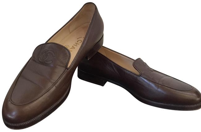 Item - Brown Cc Logo Loafers Flats Size US 6 Regular (M, B)