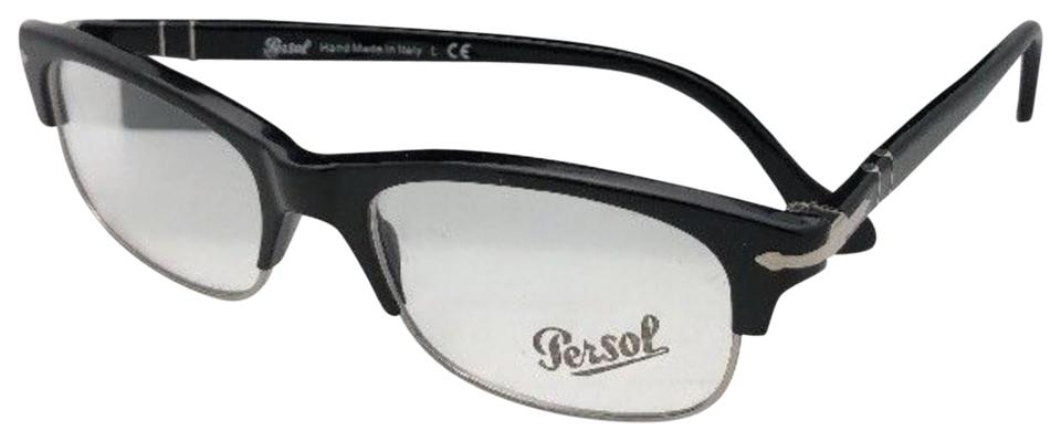 Persol New Rx-able 3033-v 95 52-18 145 Classic Black & Silver Frames ...