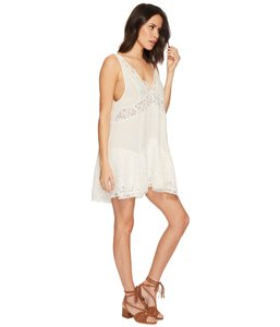 Free People short dress Sleeveless Lace Trim V-neck Rayon on Tradesy