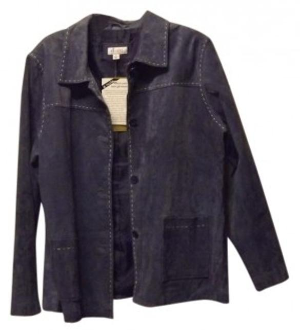 Preload https://img-static.tradesy.com/item/23435/denim-and-co-blue-suede-leather-jacket-size-18-xl-plus-0x-0-0-650-650.jpg