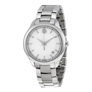 Movado Bellina White Dial Silver Tone Ladies Watch