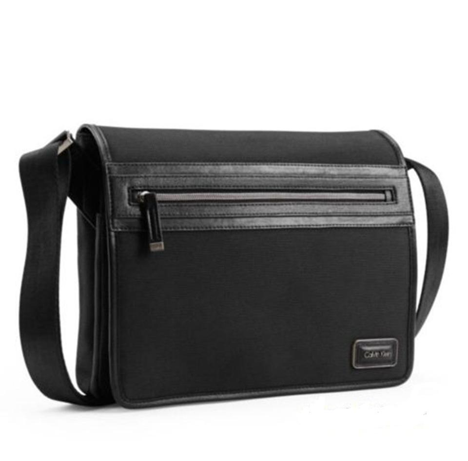 636e45ec3db3 Calvin Klein Mens Toby City Black Polyester Messenger Bag - Tradesy