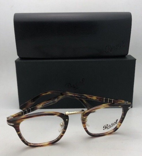 Persol New PERSOL Eyeglasses Typewriter Edition 3109-V 938 47-22 Green Stripe Image 1