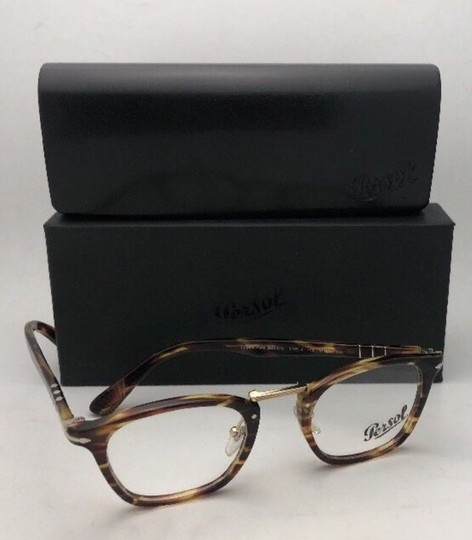 Persol New PERSOL Eyeglasses Typewriter Edition 3109-V 938 47-22 Green Stripe Image 6