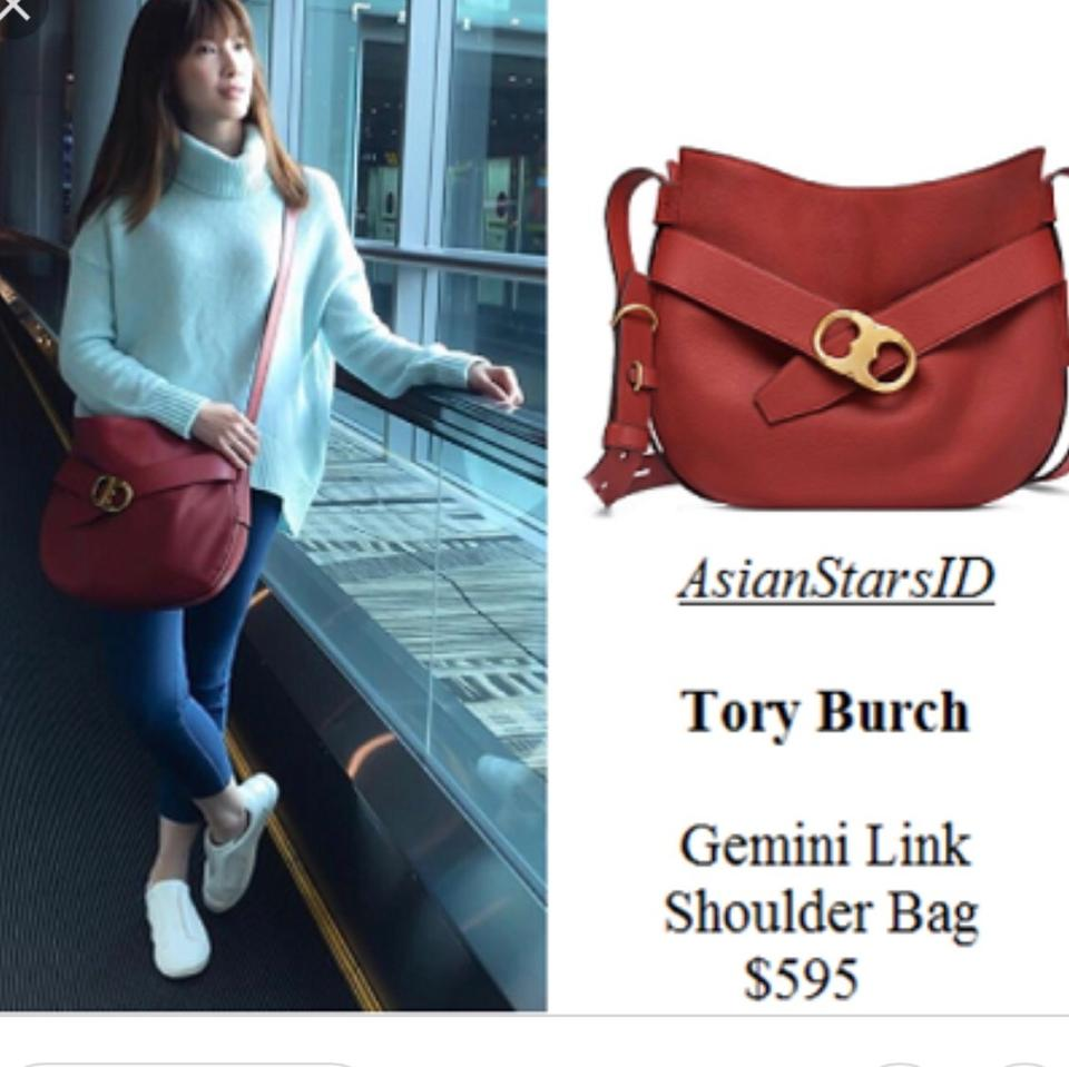 e5c658cdc85 Tory Burch Gemini Link Gift Leather New With Shoulder Bag Image 4. 12345