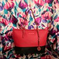 MICHAEL Michael Kors Tote in Black & Red Image 0