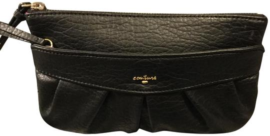 Preload https://img-static.tradesy.com/item/23435304/juicy-couture-canvas-with-gold-letteringlogo-black-leather-clutch-0-1-540-540.jpg