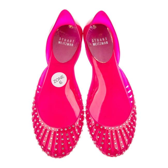 Item - Pink Jelly Rubber Round-toe Flats Size US 6 Regular (M, B)