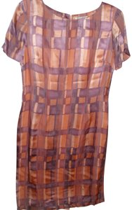 Adrianna Papell Geometric Patterned Print Retro Fitted Dress