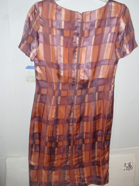 Adrianna Papell Geometric Patterned Print Retro Fitted Dress Image 1