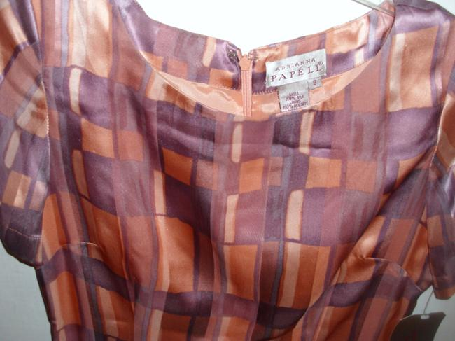 Adrianna Papell Geometric Patterned Print Retro Fitted Dress Image 2