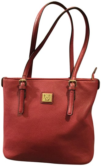 Preload https://img-static.tradesy.com/item/23435454/anne-klein-canvas-in-red-leather-tote-0-1-540-540.jpg