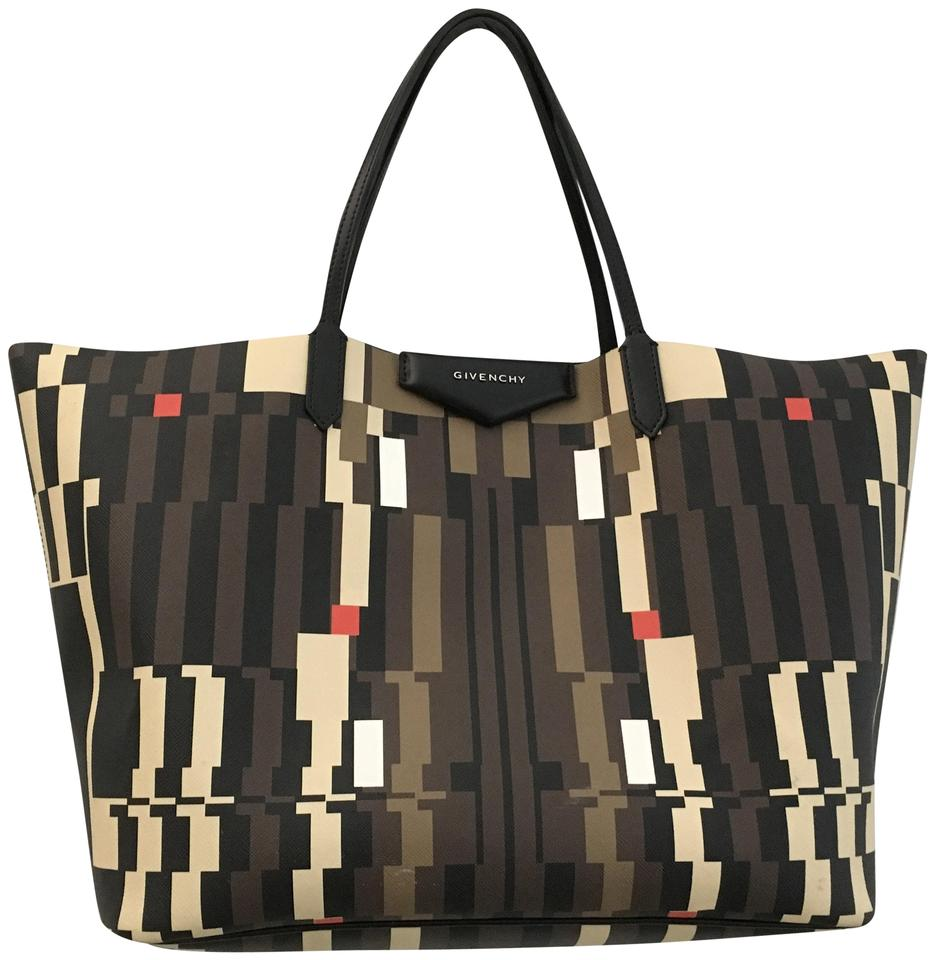 9a47c3bc90 Givenchy Antigona Large Tribal Multicolor Coated Canvas Tote - Tradesy