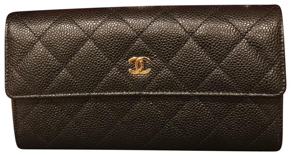 a515ca13e3d152 Chanel Black Gusset Large Flap Wallet - Tradesy