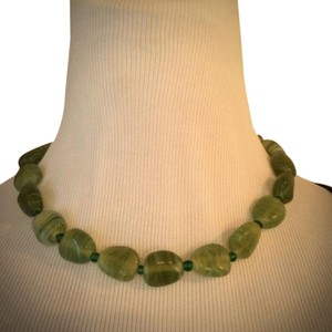 No Brand Green Rock Necklace